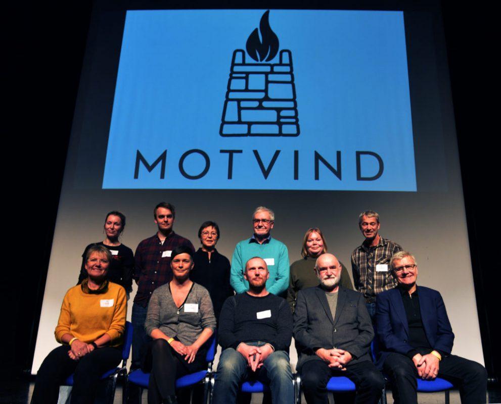 Bilde av det nyvalgte styret i Motvind Norge